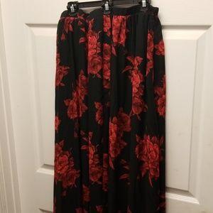 Venus XL Floral Maxi Skirt